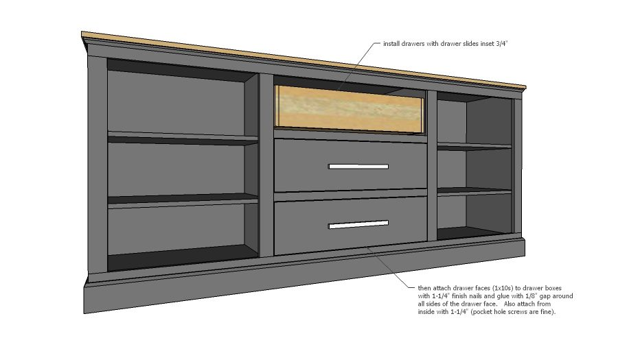 Ana White Build A Extra Long Buffet Cabinet Free And Easy Diy Project