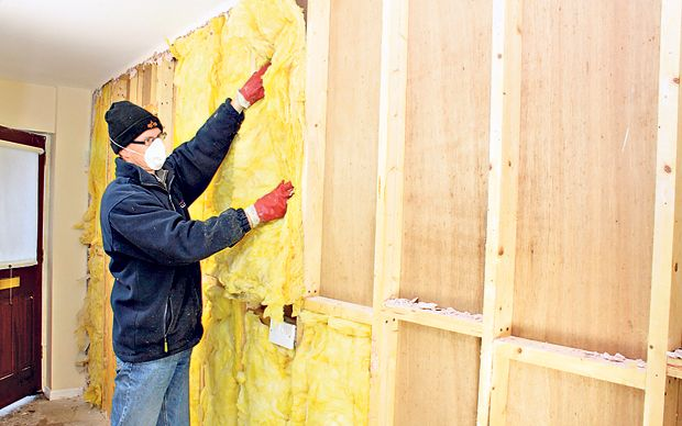how to insulate outside wall