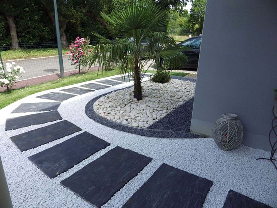 21 stunning picture collection for paving ideas for Decoration jardin gazon synthetique