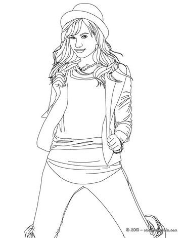 Demi Lovato Coloring Page More Famous People Coloring Sheets On Hellokids Com Coloring Pages Star Coloring Pages People Coloring Pages