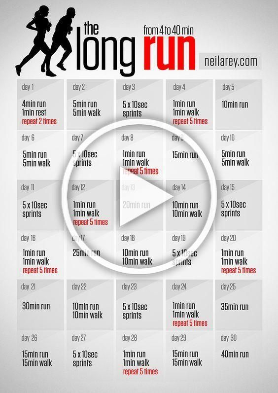 The long run program / from 4 to 40 minutes run #running #fitness: