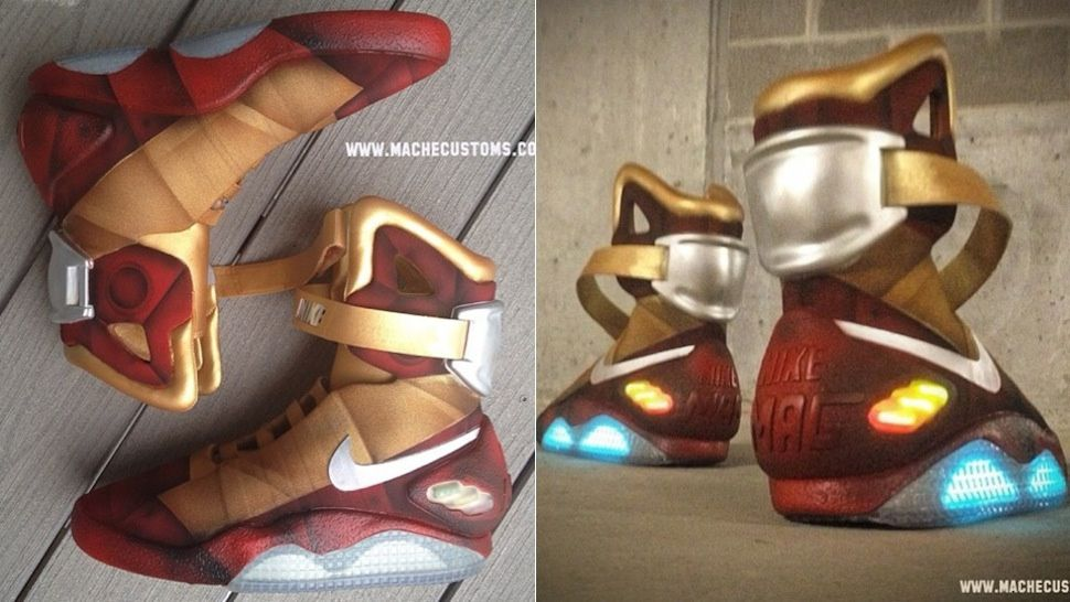 These Armored Nike Air Mags Were Made For Iron Man Nike Air Mag