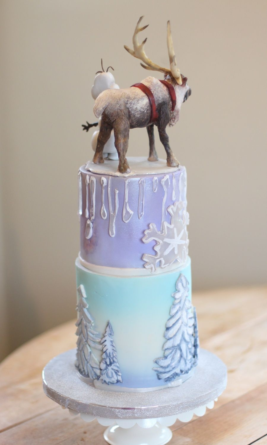 Disney Frozen Cake Modeling Chocolate Characters On Top ...