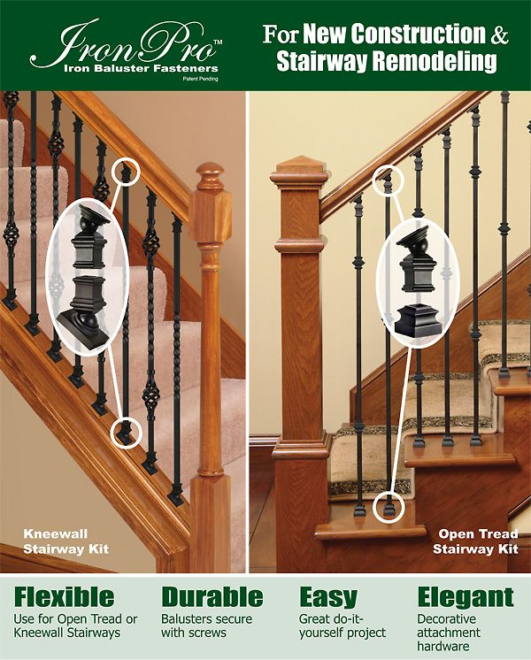Best Remodel From Wooden Balusters To Iron With Ironpro Kits 640 x 480
