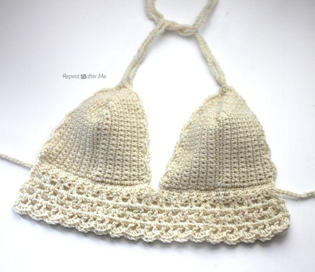 Repeat Crafter Me: Crochet Bikini Top Pattern | Crochet | Pinterest ...