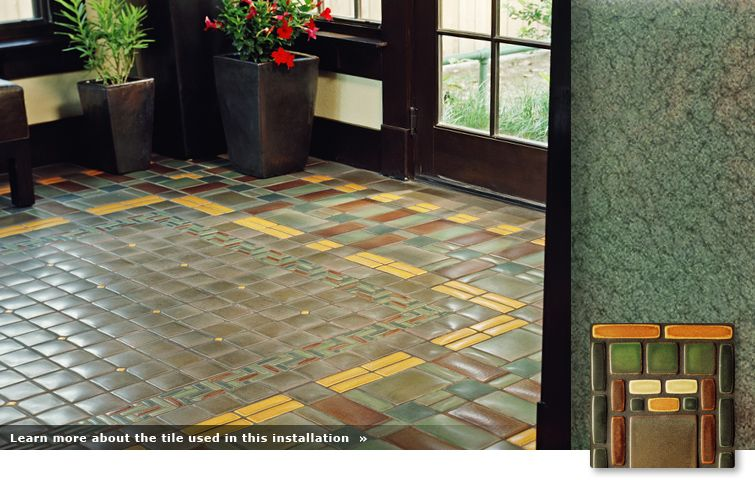 Mission patterned tile floor my arts and craftscottagy
