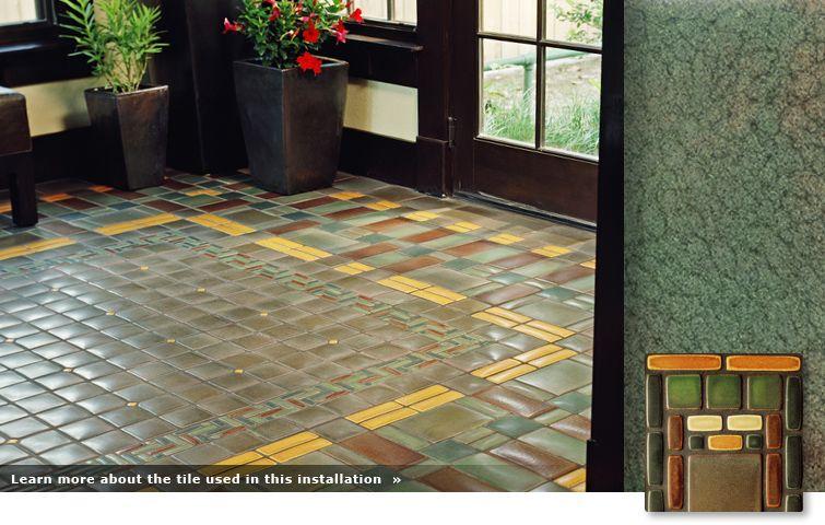 Mission Patterned Tile Floor Tiles Craftsman Tile Arts