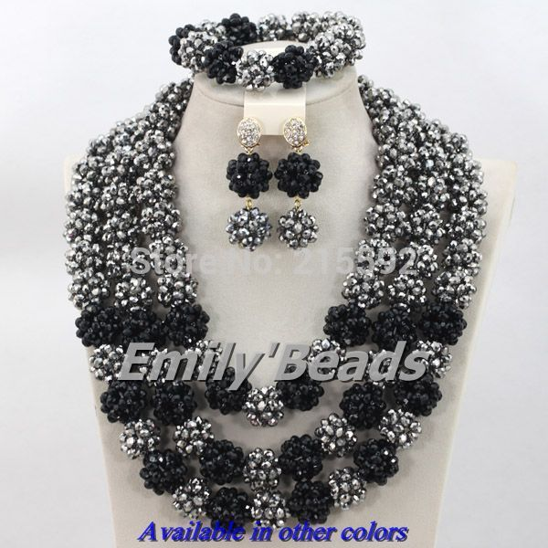 Find More Jewelry Sets Information About New Fashion African Wedding Nigerian Crystal Beads Necklaces