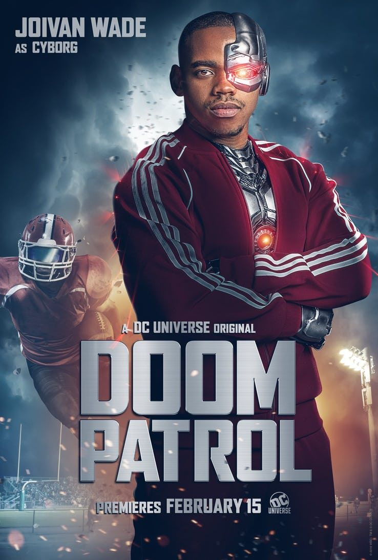 Doom Patrol Poster Cyborg Doom Patrol Dc Universe Doom