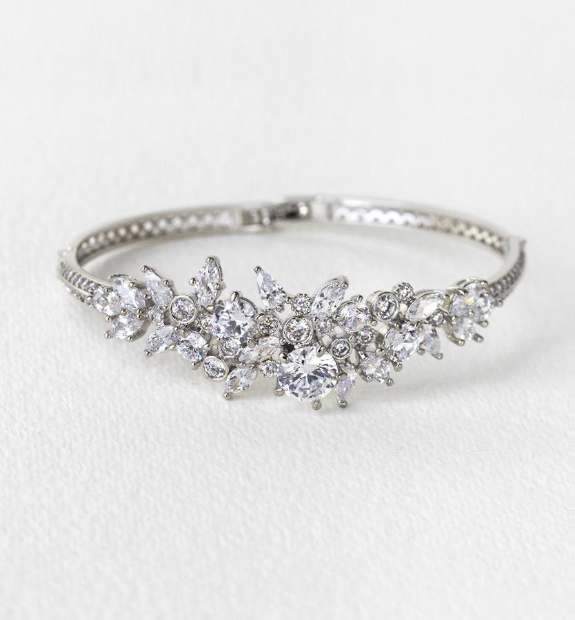 Fleur Crystal Bangle Bracelet