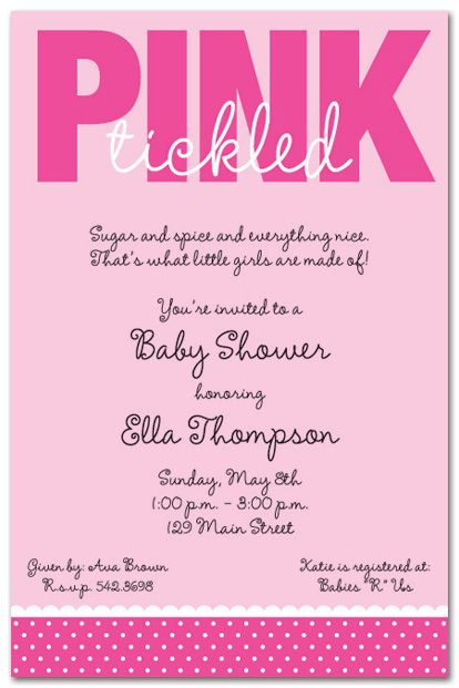 Cool Free Template Baby Shower Invitations Girl Free Online