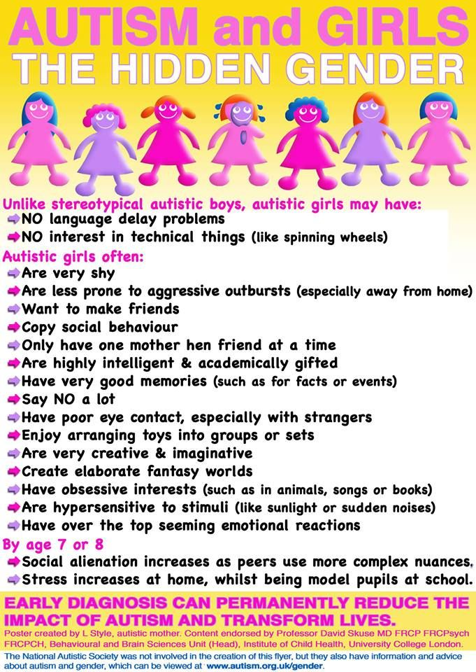 Autism & girls - the hidden gender | Sensory integration ...