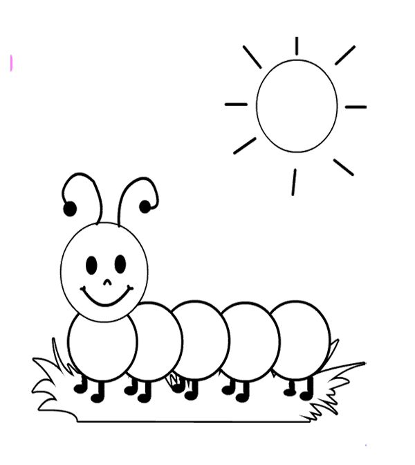 Cute Caterpillar Coloring Sheet With Images Coloring Sheets