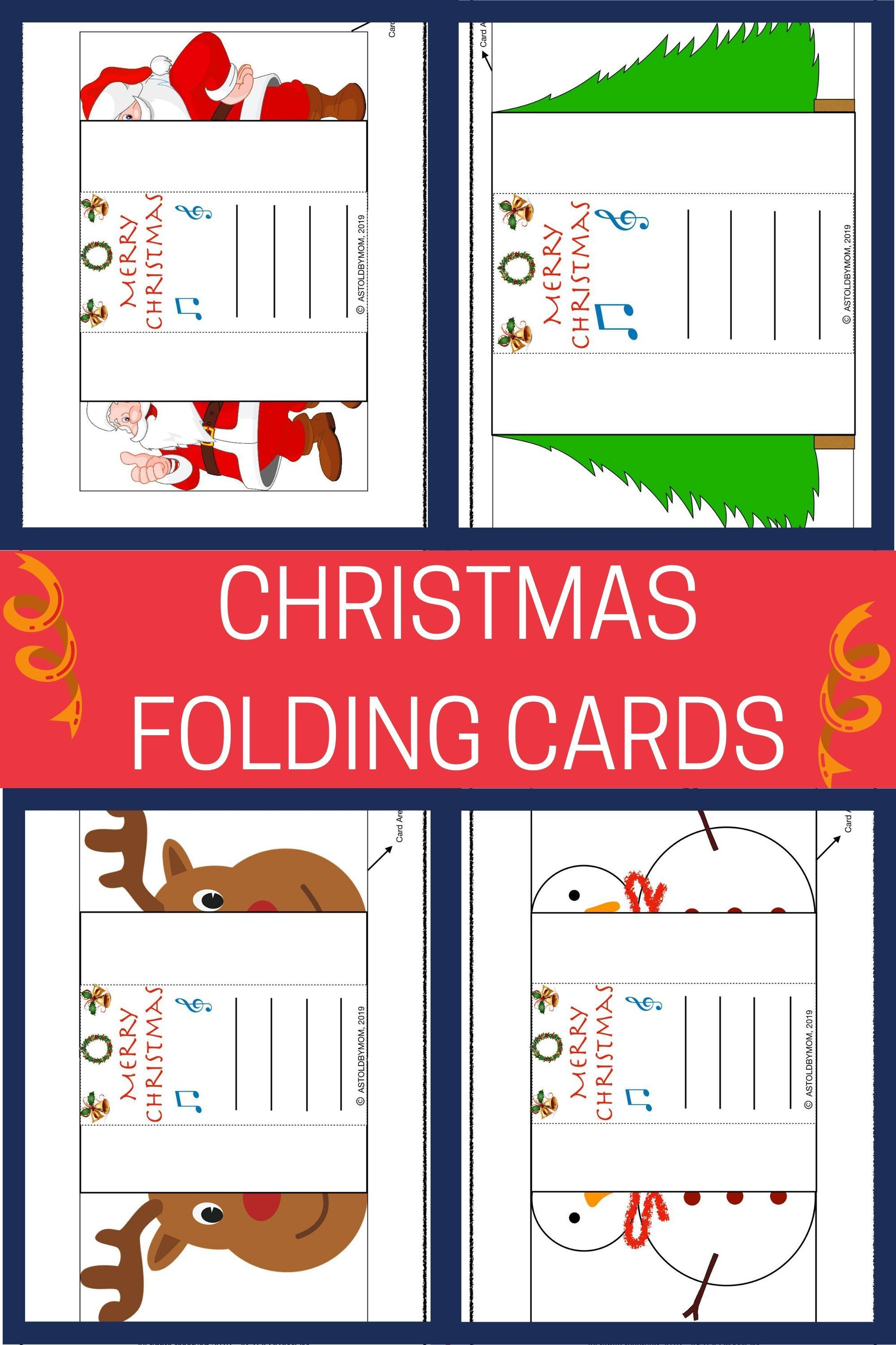 Foldable Christmas Popup Cards As Told By Mom Christmas Cards Kids Pop Up Cards Creative Christmas Cards