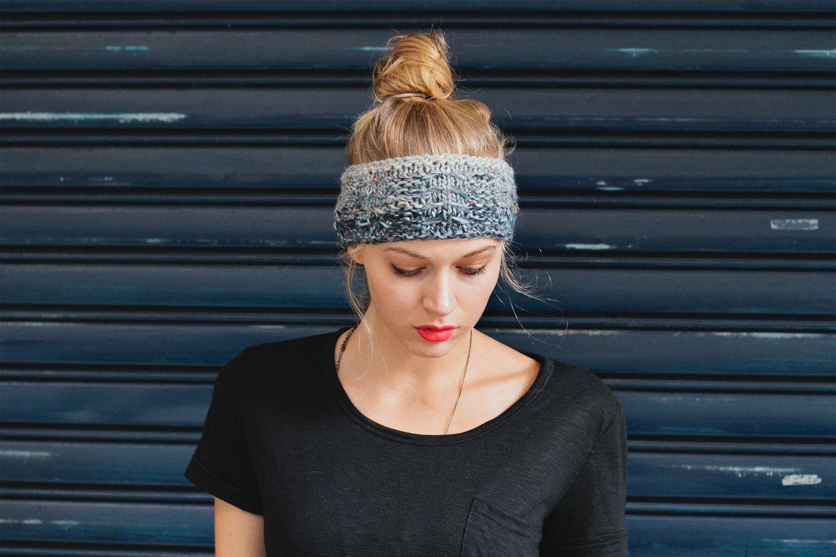 Knit a stylish winter headband | Yarns, Knitting ideas and Crochet