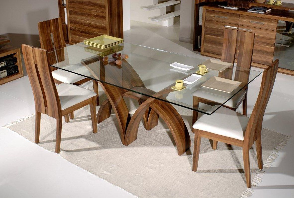 Delightful Fascinating Glass Top Dining Table