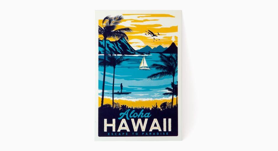 Hawaii Siebdruck