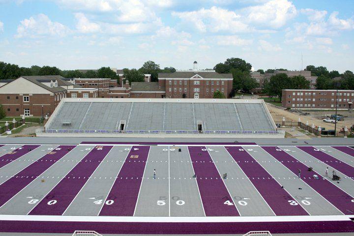 Purple field football stadiums football field college