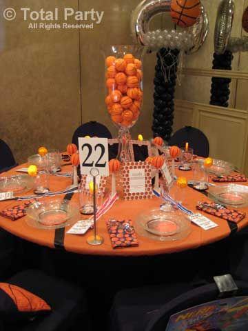 Basketball sports decor pinterest banquet for Athletic banquet decoration ideas