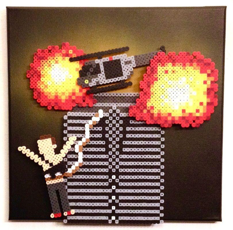 3D #Die_Hard by #Kyle_McCoy pixelartshop com | Bead Art