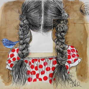 ...with a bluebird on her shoulder   Loui Jover