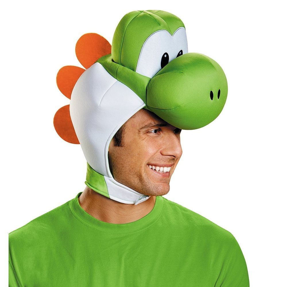 details about nintendo super mario bros yoshi headpiece hat dragon costume accessory adult. Black Bedroom Furniture Sets. Home Design Ideas
