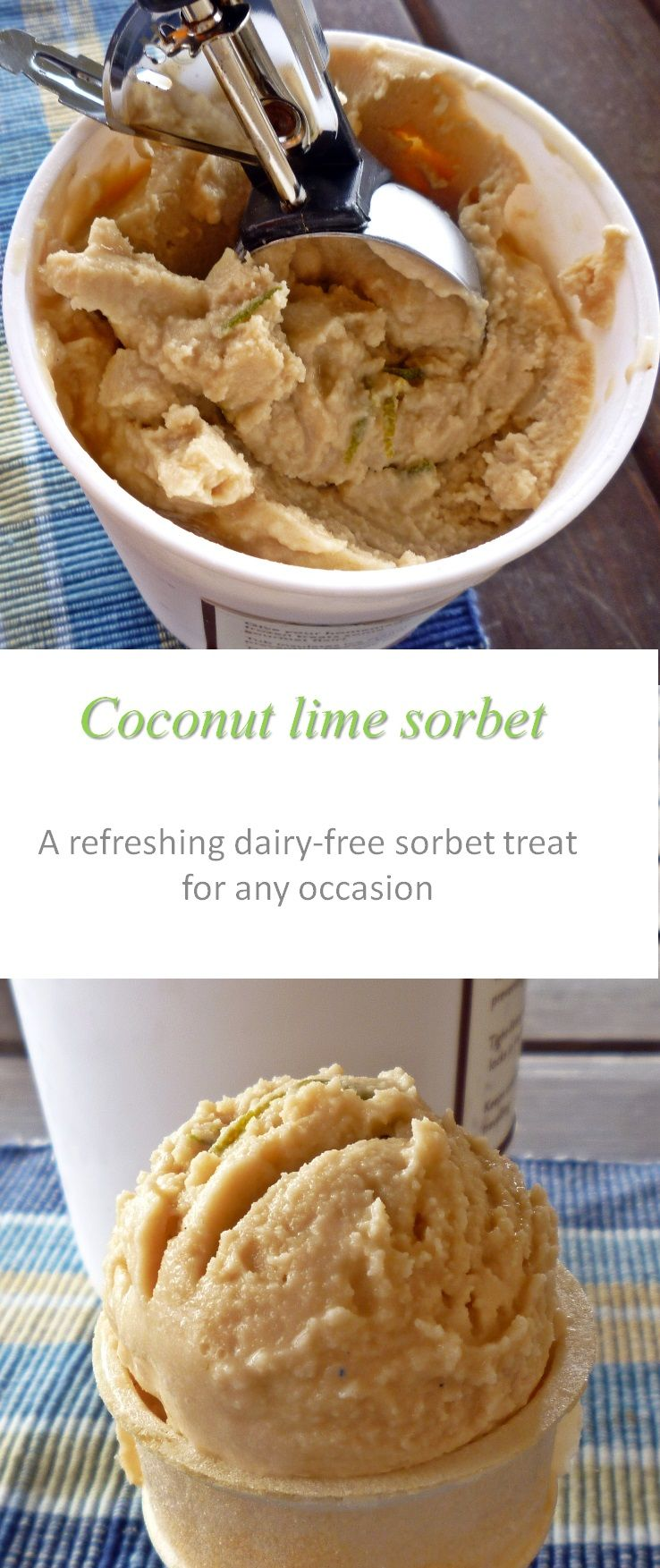 A refreshing, dairy-free coconut lime sorbet that will impress