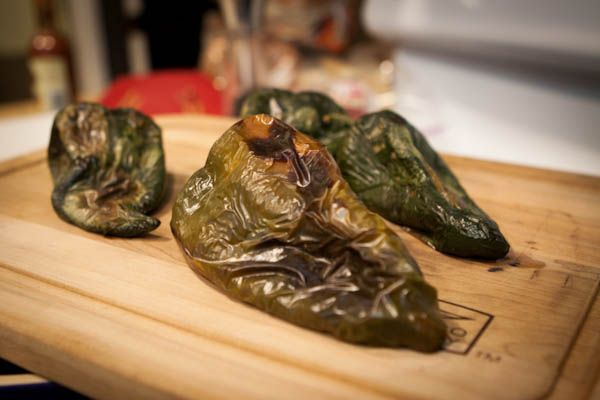 Chili Verde Pork Stuffed Roasted Poblano Peppers