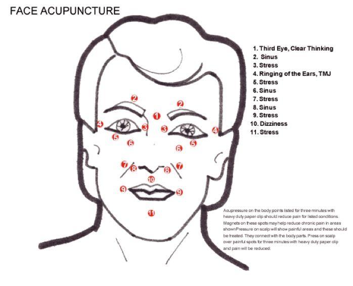 Facial Acupuncture Points | FACE ACUPUNCTURE | Acupuncture ...