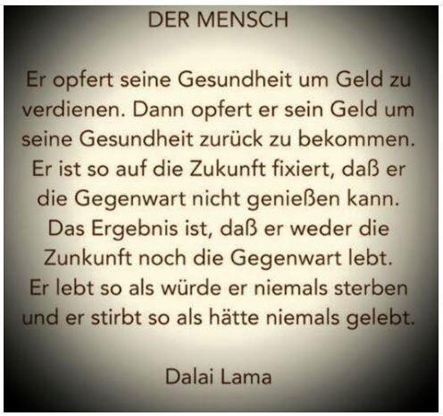 Der Mensch V Dalai Lama Wahre Worte Sprüche Und
