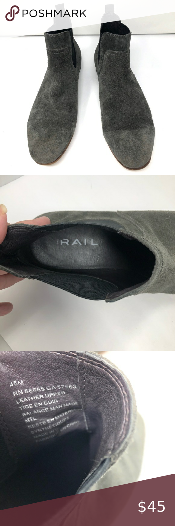 The Rail Brysen Gray Suede Chelsea Boots Gray Suede Low Boot In Euc One Boot Has A Crease From Use In 2020 Grey Suede Chelsea Boots Chelsea Boots Suede Chelsea Boots