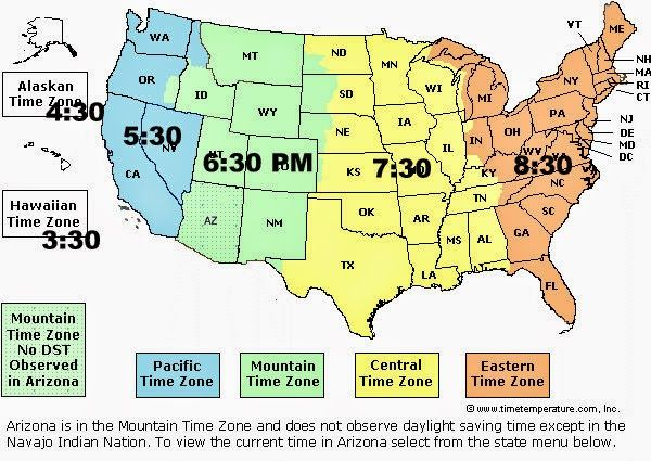 View source image | misc | Time zone map, Eastern time zone ...