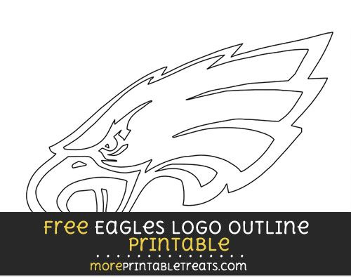 Free Large Philadelphia Eagles Logo Outline | Football & Cheer ...