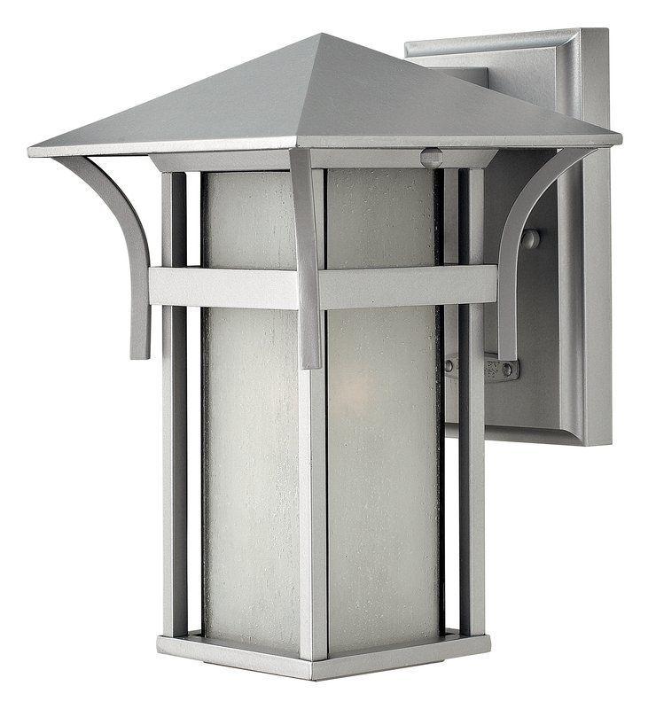 "Hinkley Lighting 2570-GU24 10.5"" Height 1 Light Lantern Fluorescent Outdoor Wall Titanium Outdoor Lighting Wall Sconces Outdoor Wall Sconces"