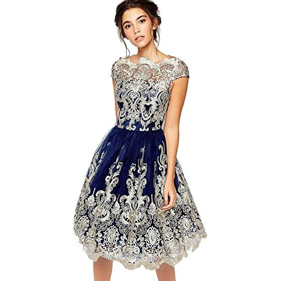 Goddessvan Hot Sale Women Formal Prom Dress Lace Patchwork ...