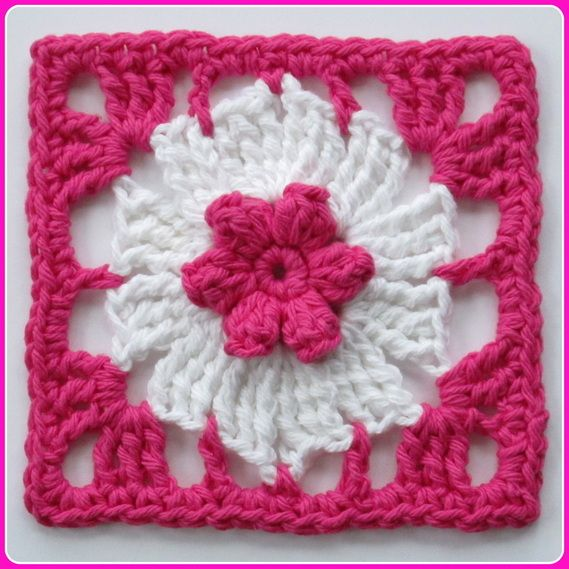 Pinwheel & Popcorn Flower Square: free pattern, thanks so xox ...