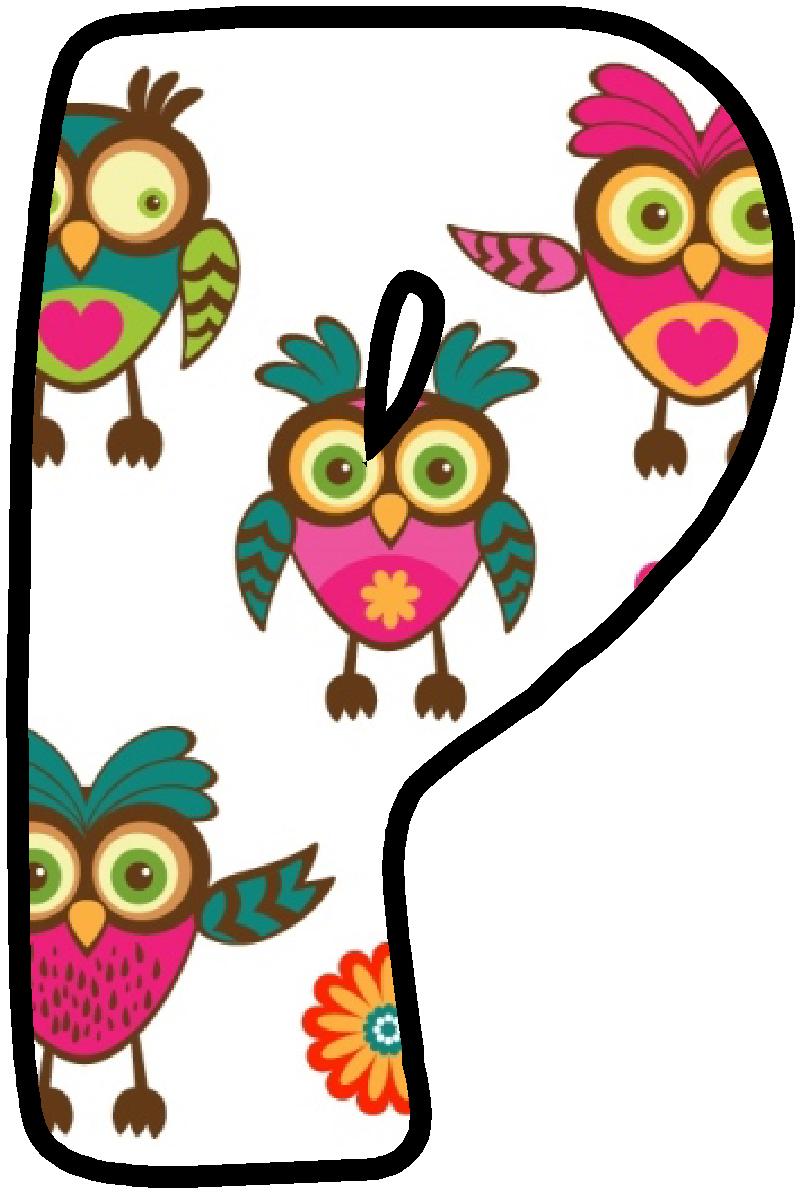 P* ** * Lettering alphabet, Alphabet clipart, Owl decor