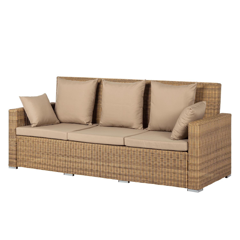 Loungesofa Calla Millor 3 Sitzer Lloyd Loom Braun Beige Ars Natura Moebel Liebe Com Gartensofa Outdoor Sofa Sofa