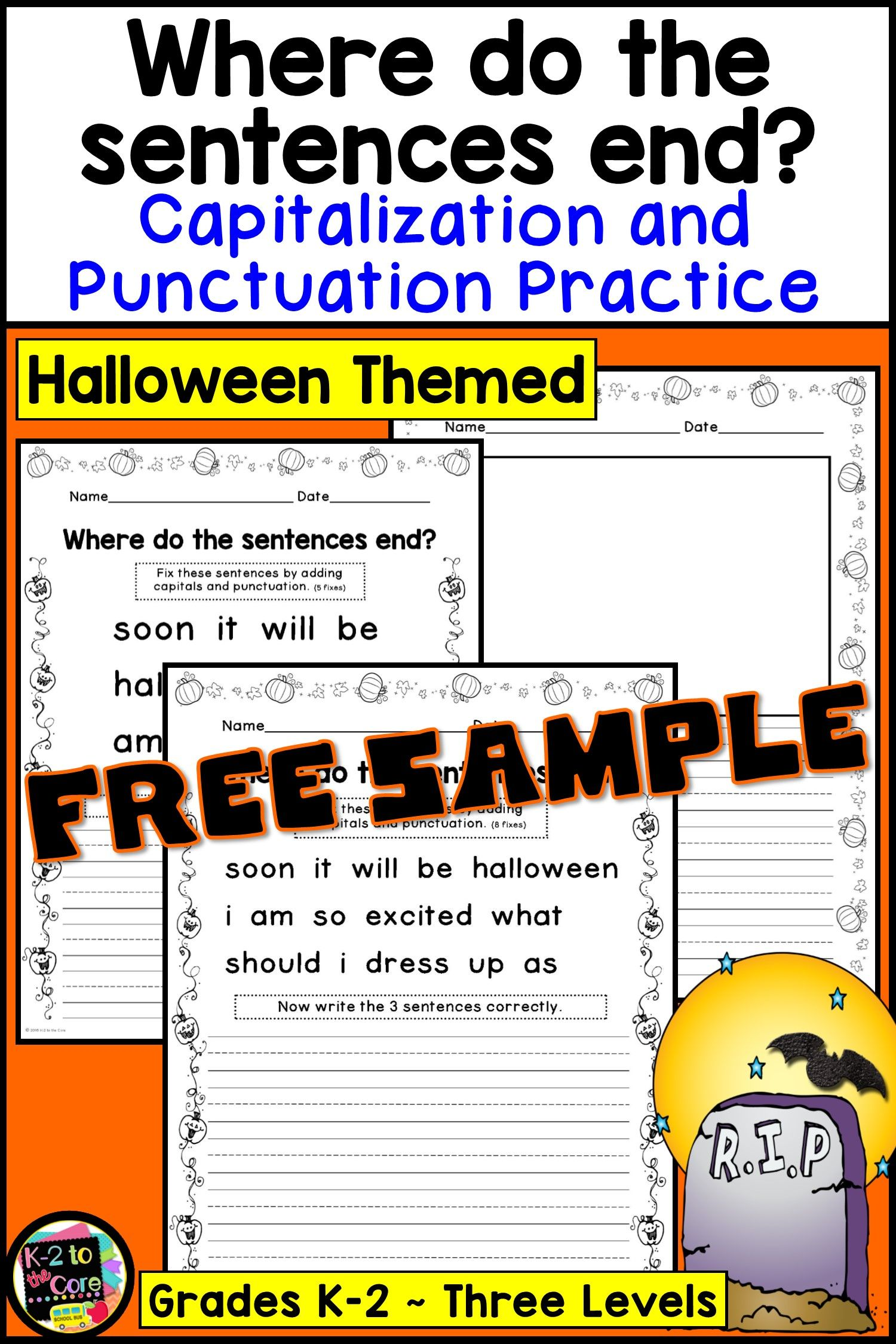 Working On Grammar Capitalization And Punctuation With