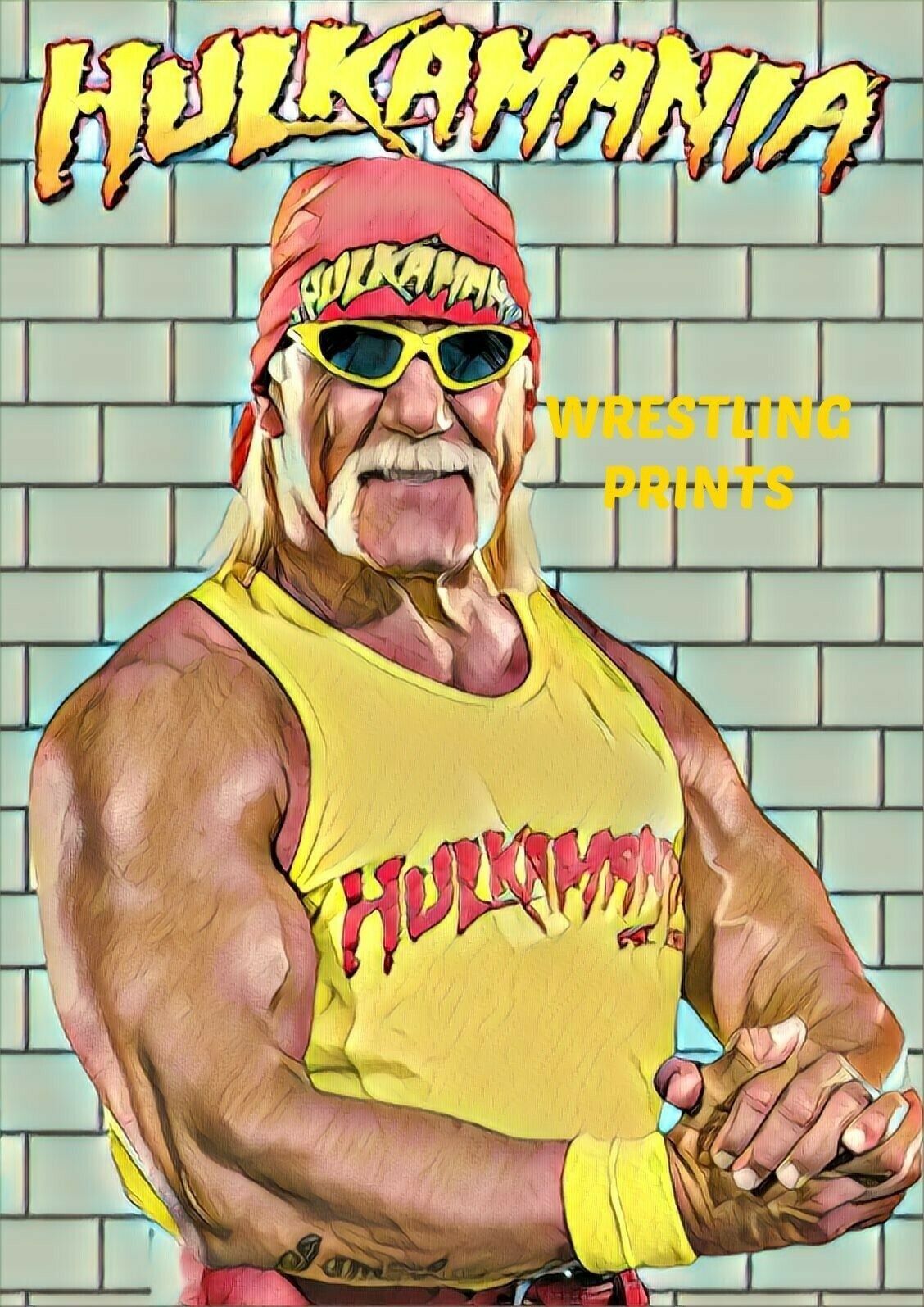 WWF WWE WRESTLEMANIA 1 HULK HOGAN MR T A4 PRINT 230GSM RETRO POSTER WALL ART