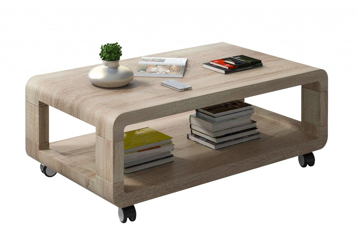 Salon Table Basse à Roulettes Comforium With Images Table Coffee Table Table Design