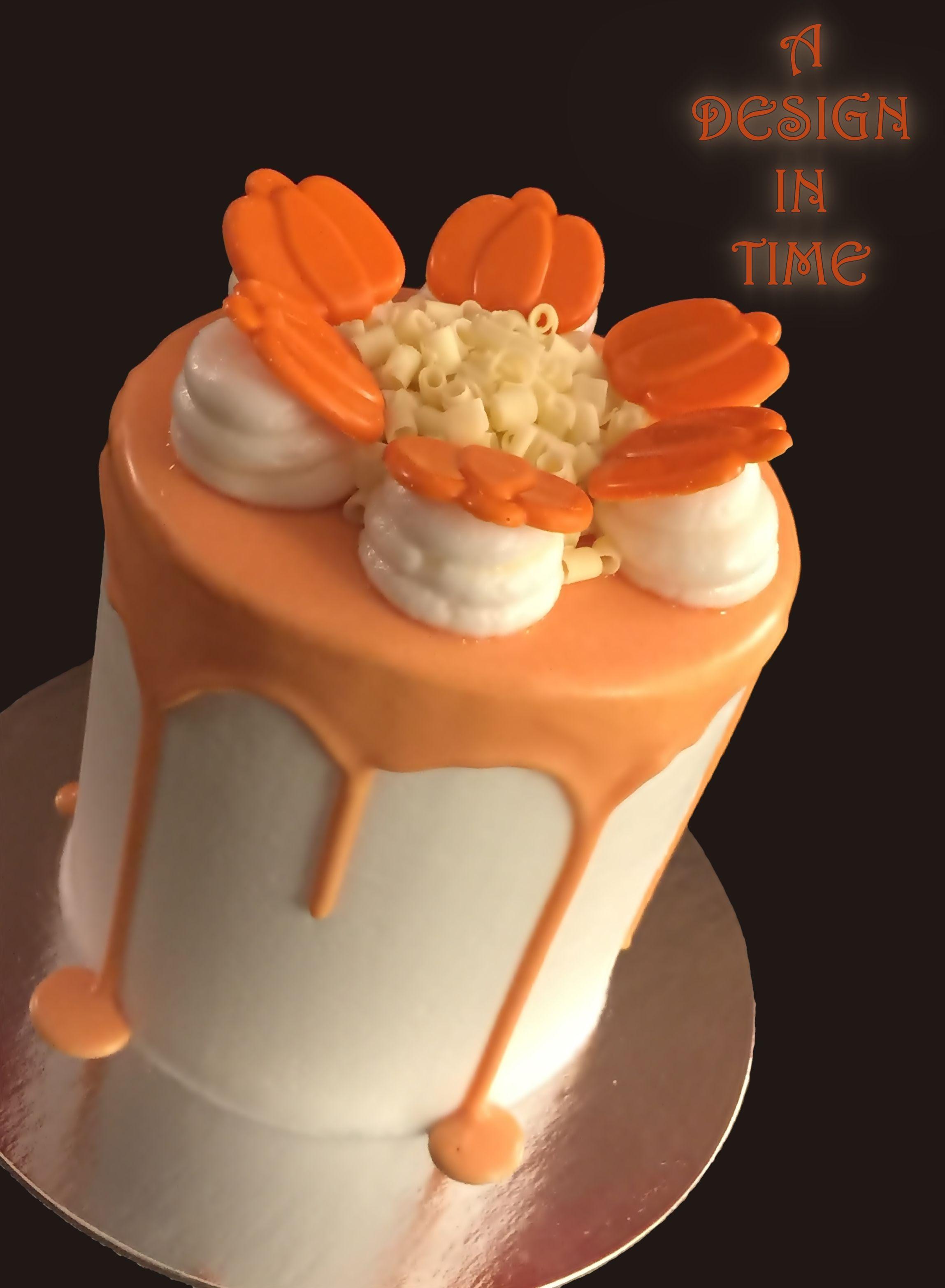 Pumpkin Ganache Drip Cake  Cake Decorated With Pumpkin Ganache