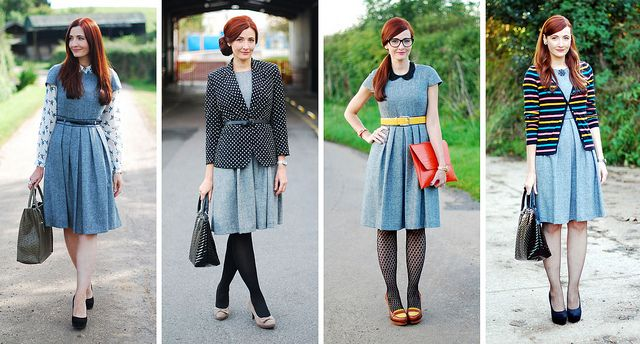 Four Ways to Wear - One Dress, Four Interview Outfits by Not Dressed As Lamb, via Flickr