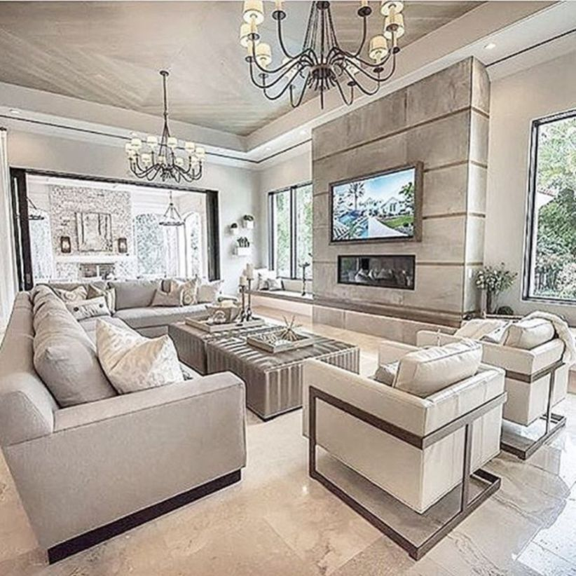 Cool 49 Gorgeous Luxurious Living Room Design For Luxury Home