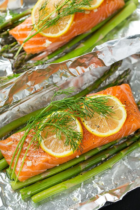 Baked Salmon And Asparagus In Foil Recipe Asparagus Salmon And