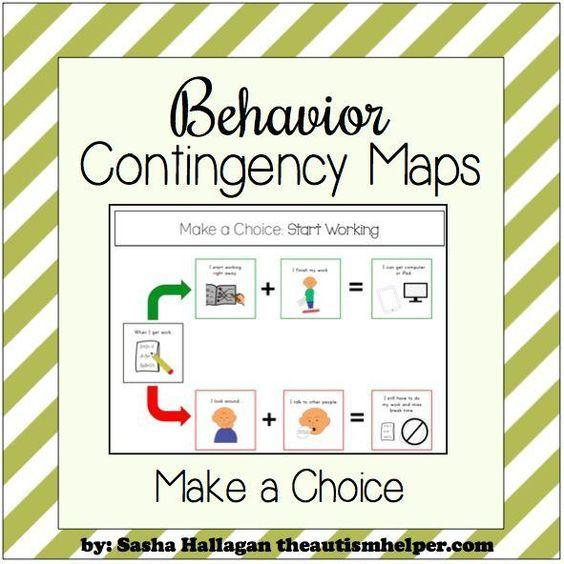 Behavior Contingency Maps Behavior plans, Autism helper and Autism