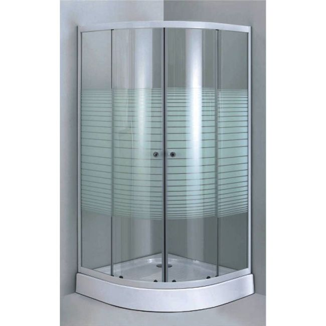 Enclose your shower with this thick-tempered glass panel frame