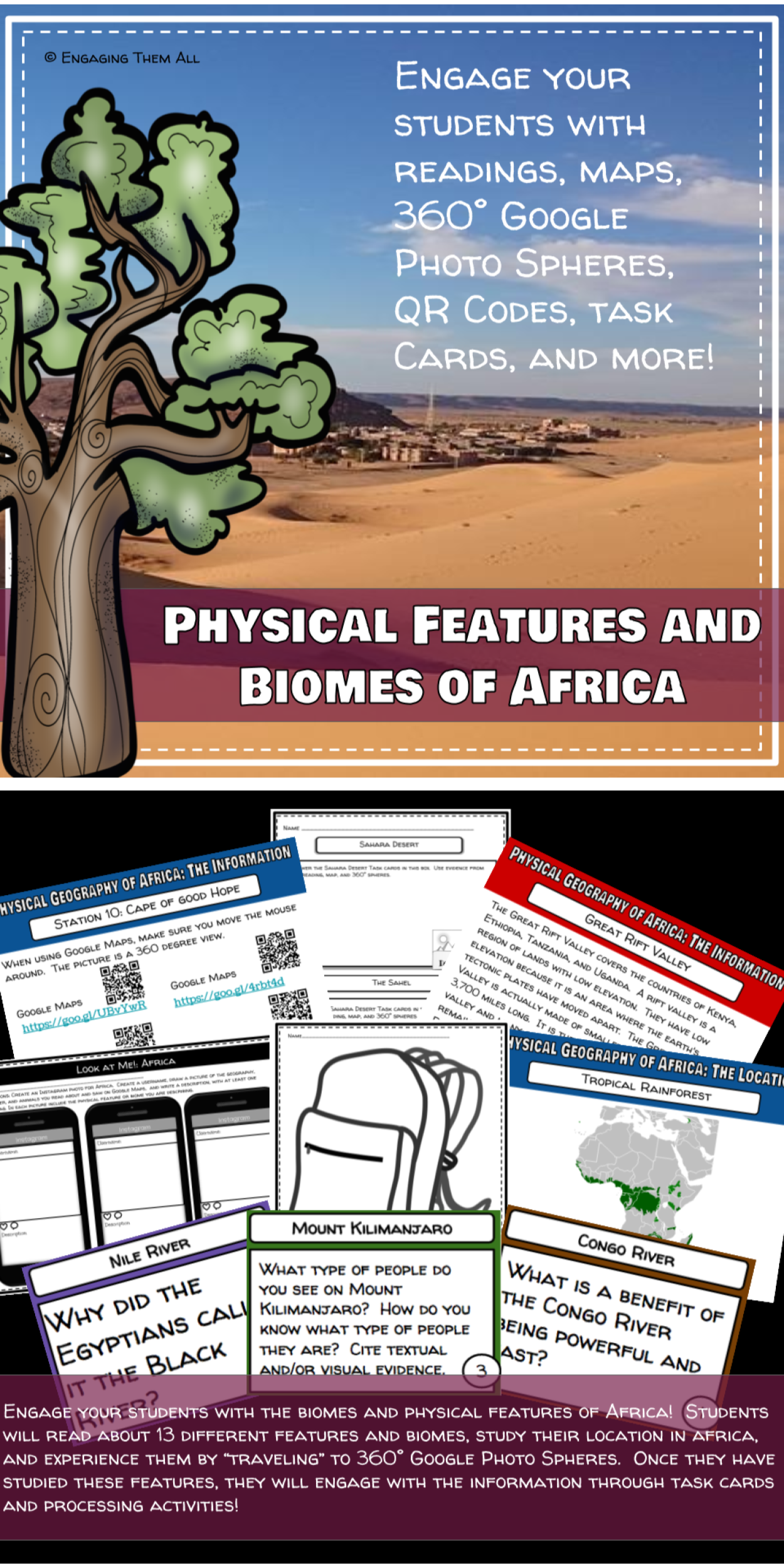 Africa Geography Physical Features And Biomes Activity