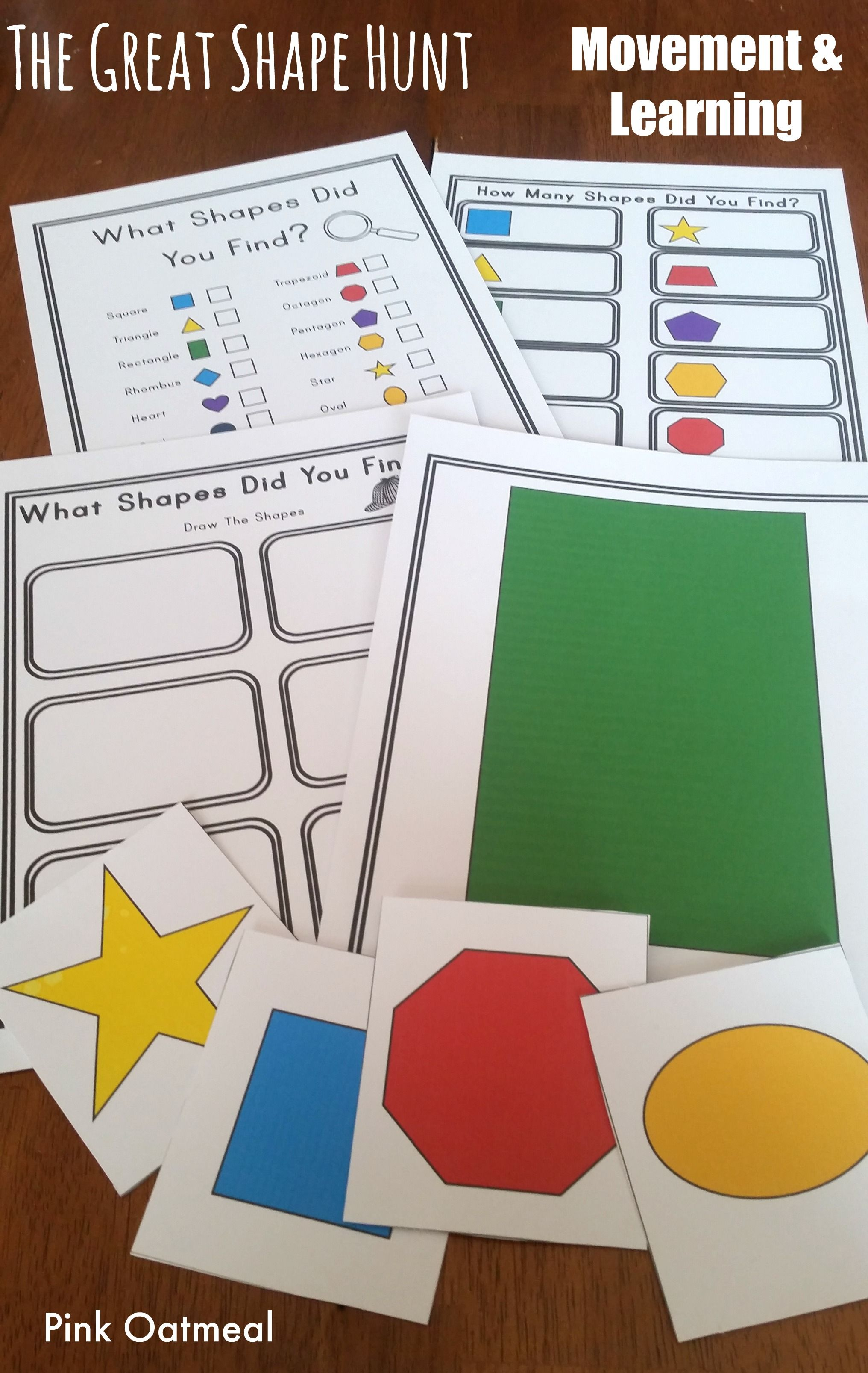 Shape Hunt - Moving With Shapes | Kinesthetic learning, Learning ...