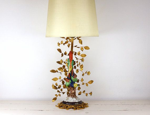 French Lamp Porcelain Gold Antique Sevres by PinkMountains on Etsy